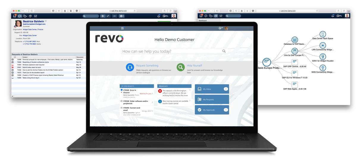 4me service management screenshots